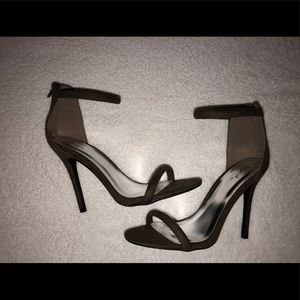 Army Green Ankle Strap Heels